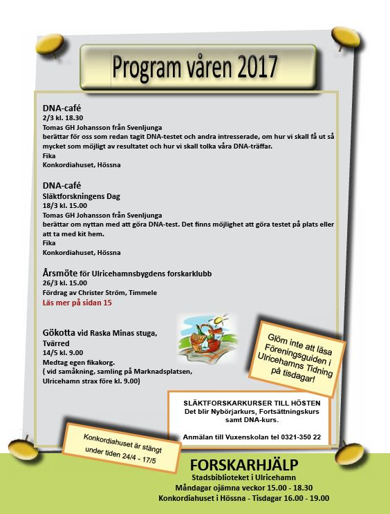 vårens program